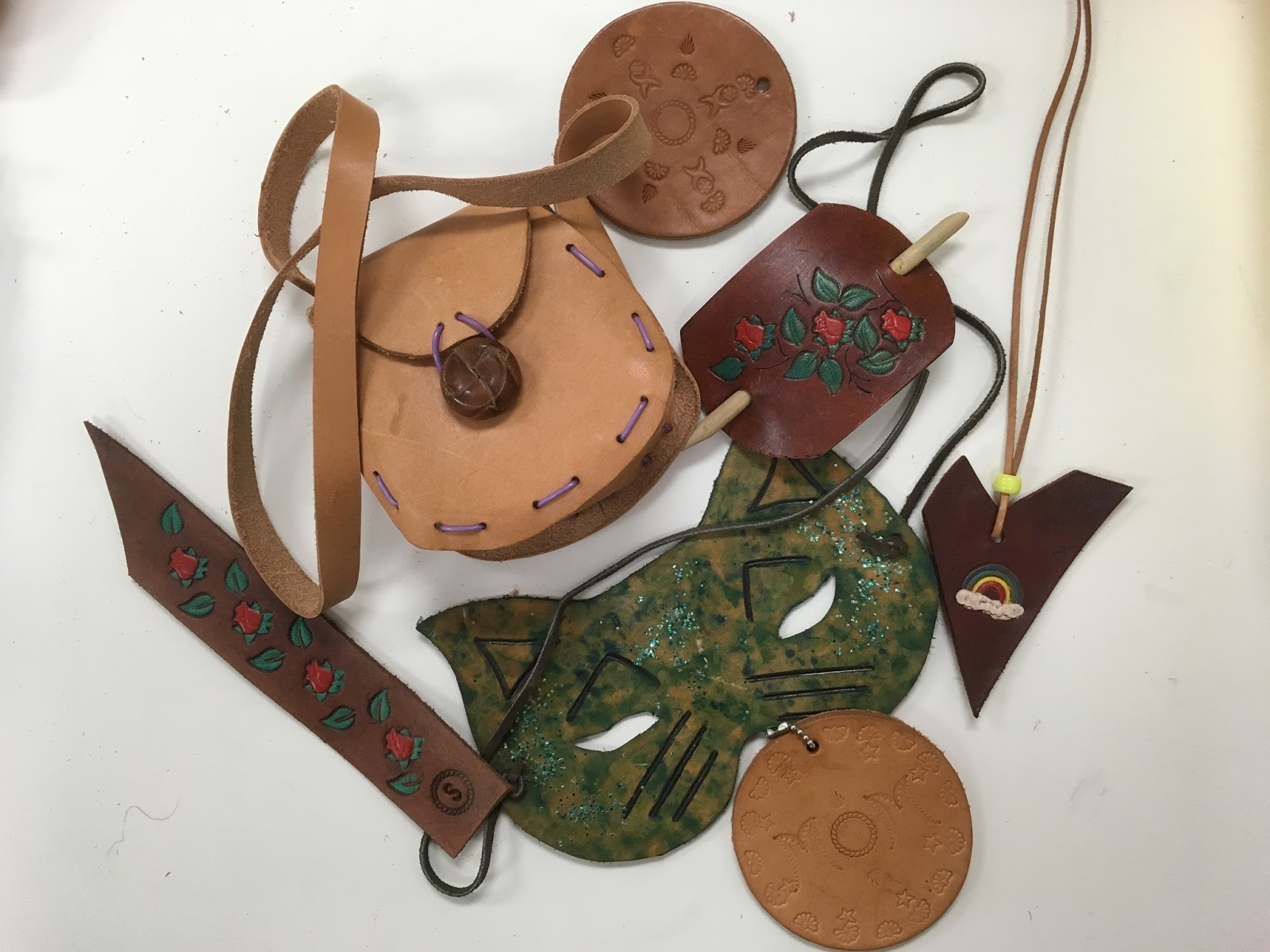 What Is Leather Made Of >> Primarily Art With Mrs Depp Leather Craft