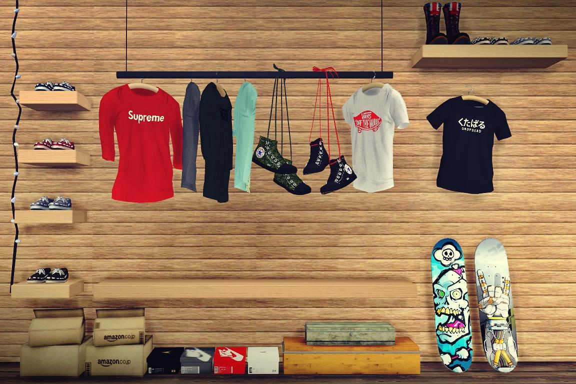 My Sims 4 Blog TS3 Decorative Hanging Clothing