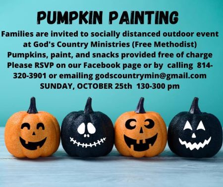 10-25 Pumpkin Painting At God's Country Ministries Church