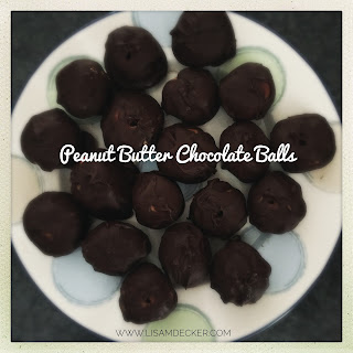 Fixate Recipes, 21 Day Fix Treats, Peanut Butter Chocolate Balls, Healthy Treat Recipes, Yellow Container Treats, Peanut Butter Dessert, Successfully Fit, Lisa Decker