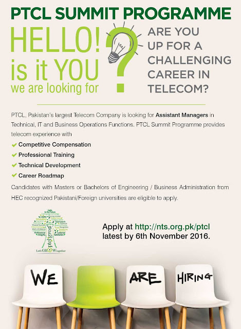 Latest Jobs in PTCL as Assistant Mangers Jobs in Pakistan 2016