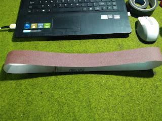 Contoh Belt Sander Paper, Cara menyambung amplas kertas