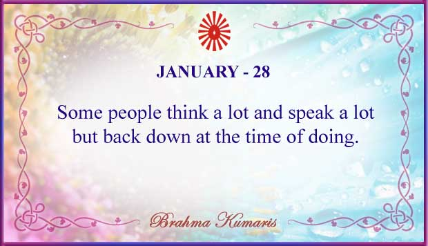 Thought For The Day January 28