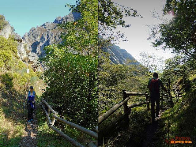 Desfiladero de Los Arrudos: Camino