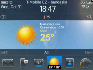 yweather for BlackBerry