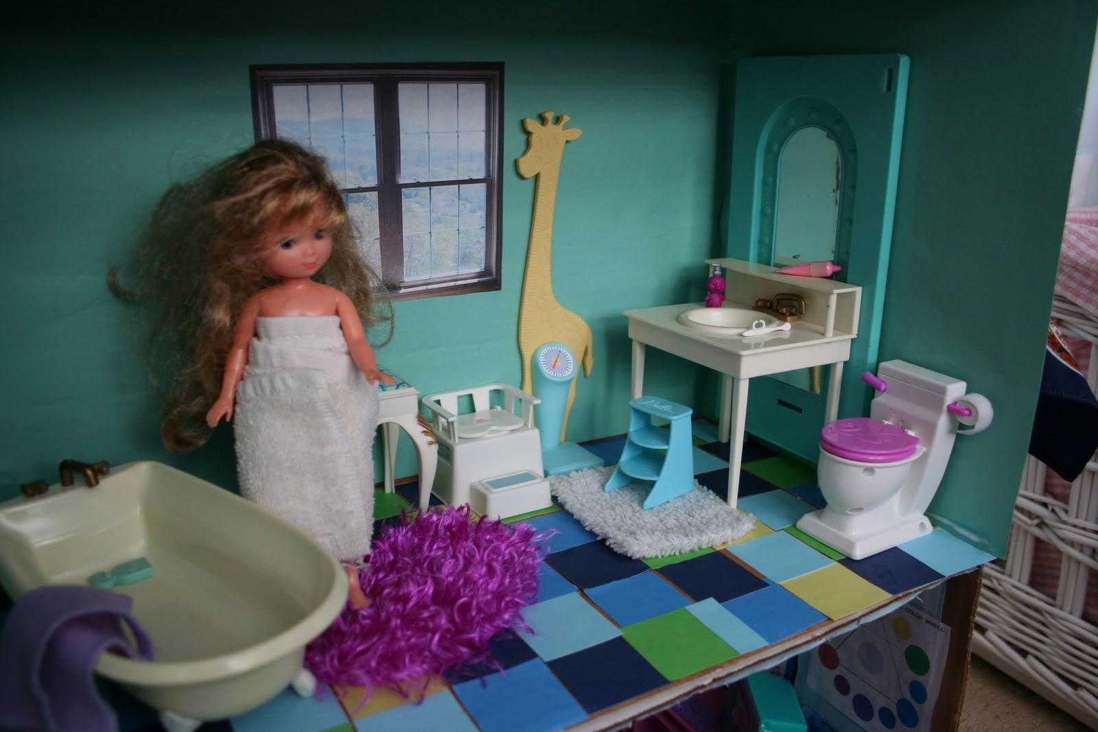 Pink And Green Mama Diy Barbie Cardboard Box House