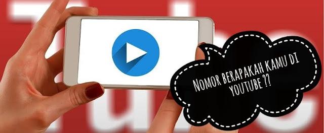 cara mengetahui peringkat youtube