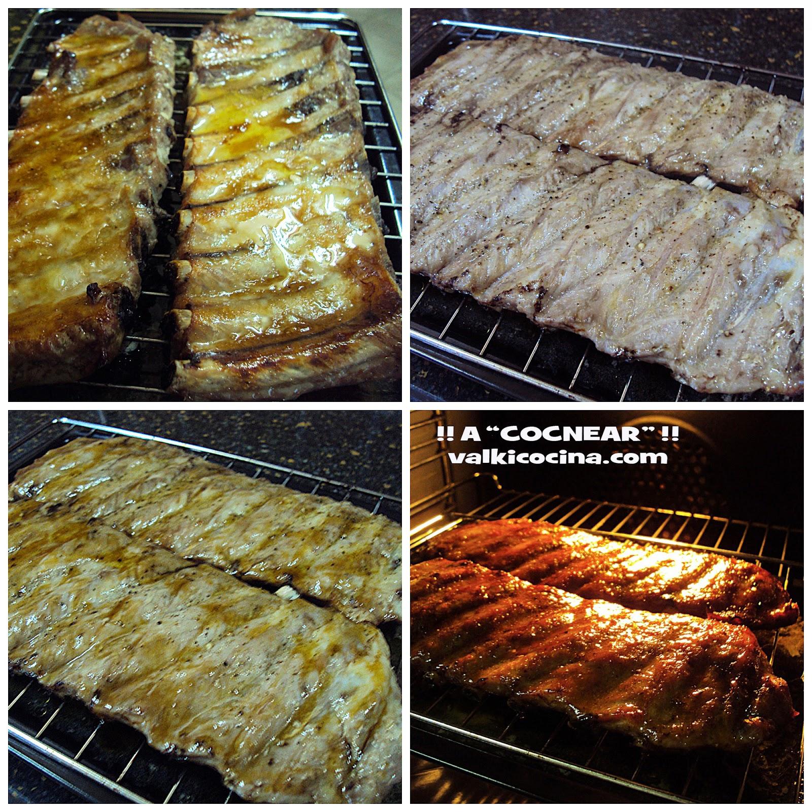 costillas de cerdo al horno miel y mostaza