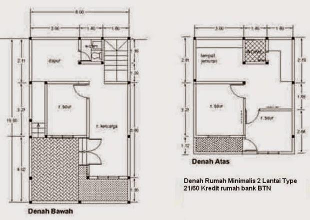 Contoh Desain Rumah Minimalis Type 21 Desain Rumah Kita
