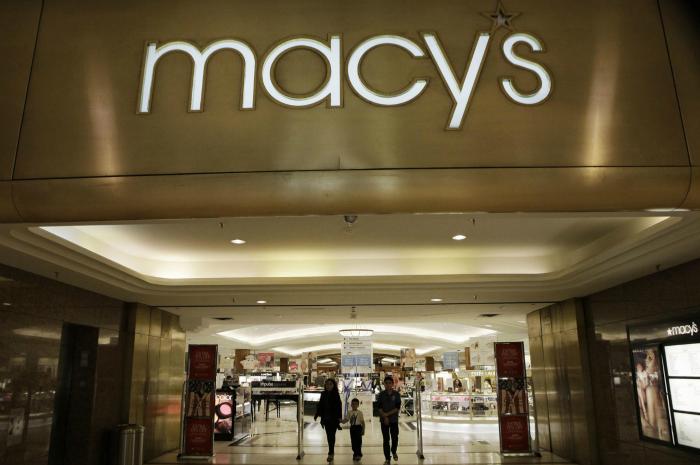 Compras na Macy's com encaminhamento de pacotes