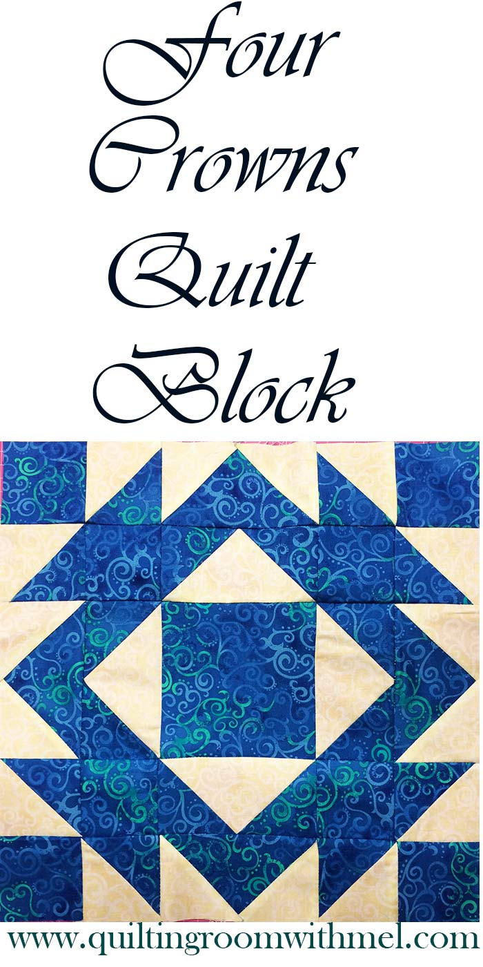 four crowns quilt block pinterest