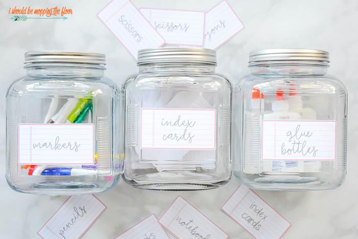 Jars for Organizing