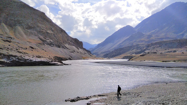 Leh Ladakh Bike Trip, Leh, Confluence of river
