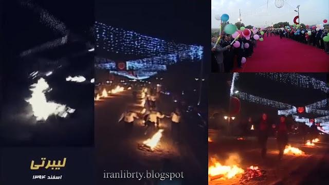 جشن ملی چهارشنبه سوری همراه با رزمندگان در لیبرتی اسفند94