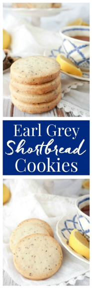 Downton Abbey Earl Grey Shortbread Cookíes