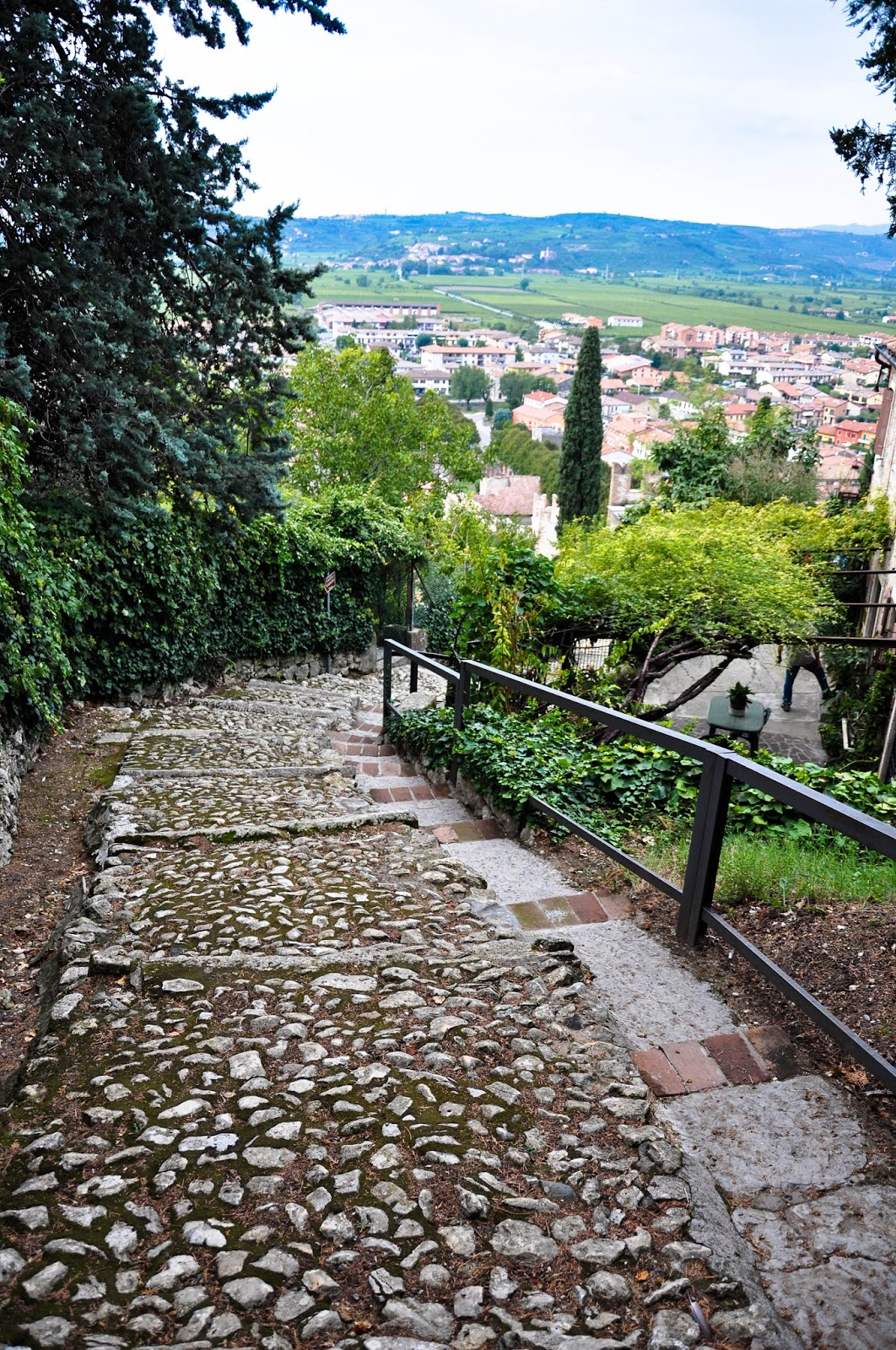 The path to Soave Castle's gate, Soave, Veneto, Italy
