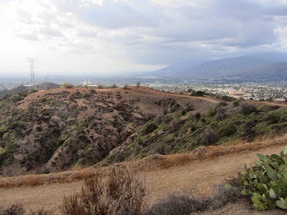 View west from below Summit 1212, South Hills Wilderness Park, Glendora