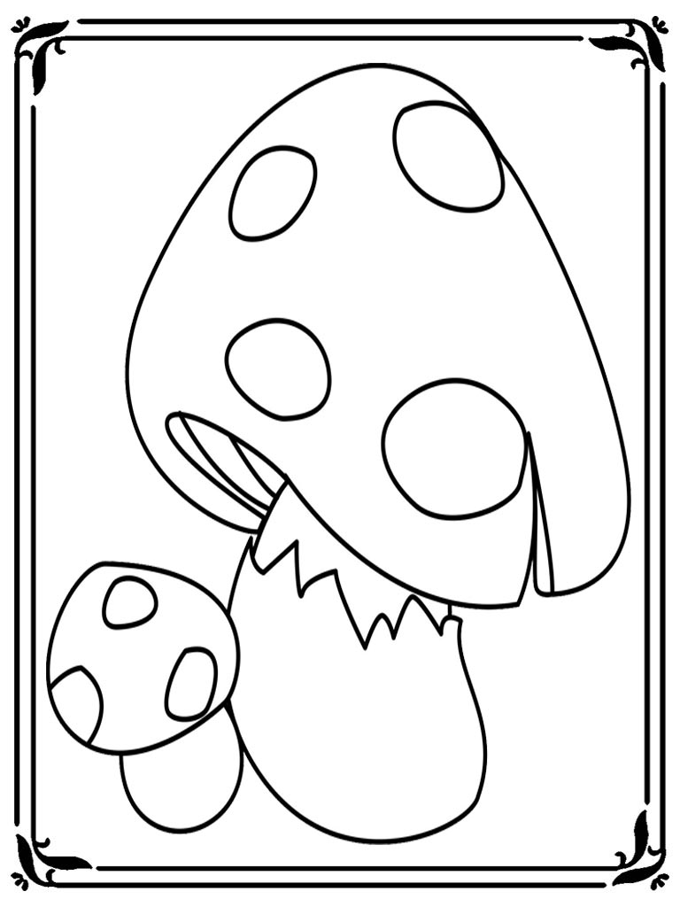 Fungi Images For Colouring Pages Sketch Coloring Page