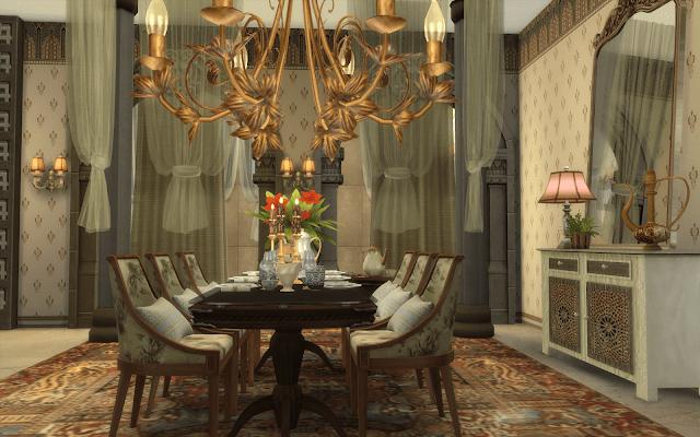 salle à manger maroc sims 4