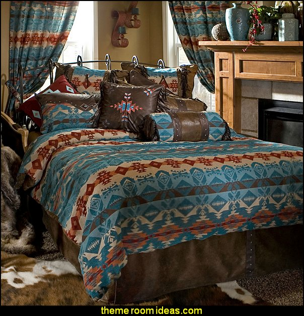 Turquoise Chamarro by Carstens Lodge Bedding southwestern bedding southwestern decorating ideas