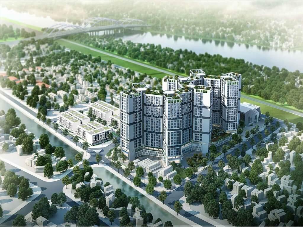 Dự án nhà ở hóa chất Đức Giang sẽ có nhiều liền kề, biệt thự.