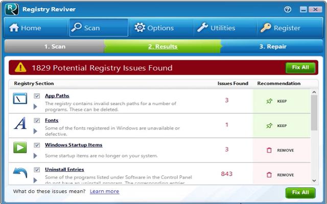 تحميل برنامج تحسين الريجيستريRegistry Reviver للويندوز آخر اصدار
