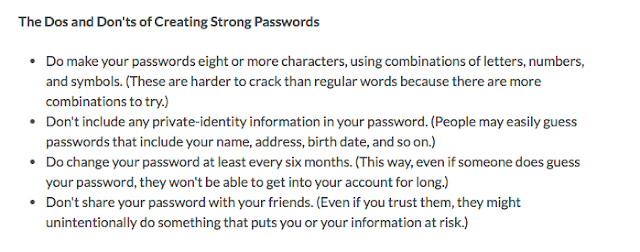Do's and Don'ts of Creating Strong Passwords