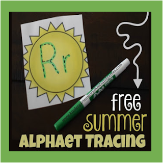 Summer Sun Alphabet Tracing