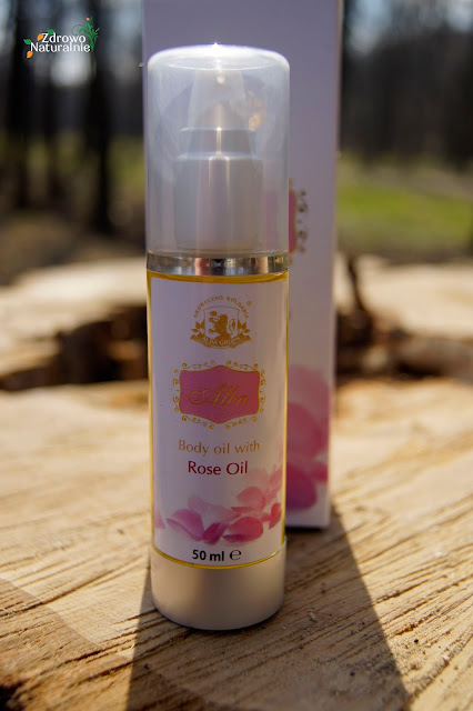 Natural Cosmetics Alba - Olejek do masażu ALBA z różą