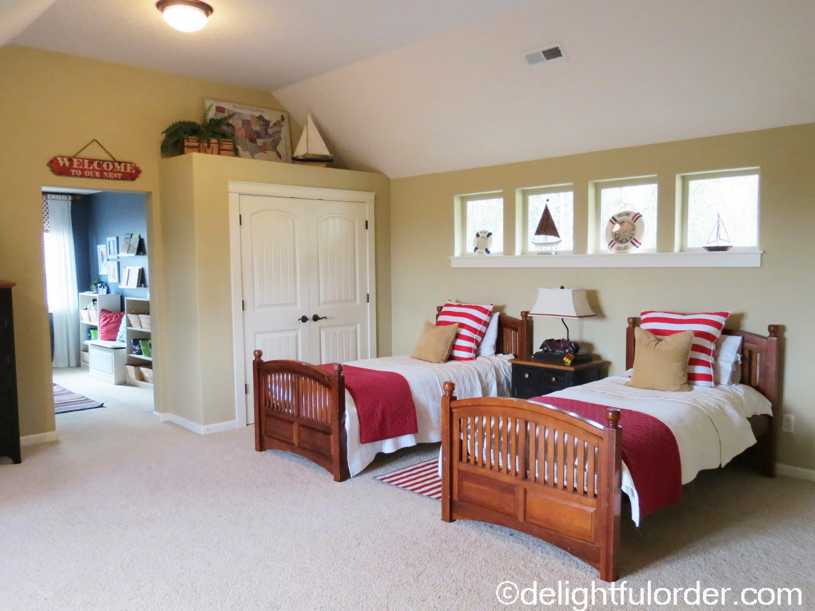 "Shared Boys Geometrical Bedroom: Delightful Order: My Boys' Shared ""Nautical"" Bedroom"