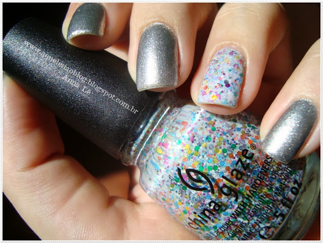 It's a Trap-Eze! China Glaze Esmalte Nailpolish Glitter