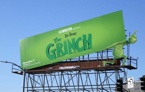Dr Seuss Grinch movie billboard