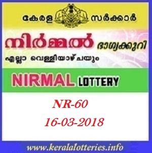 NIRMAL (NR-60) LOTTERY RESULT