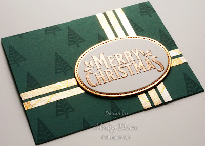 Merry Mistletoe, Stampin' Up!, Christmas Card, Hand Stamped