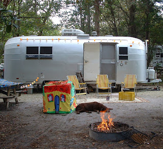 Vintage Awnings Camping At James Island County Park Near