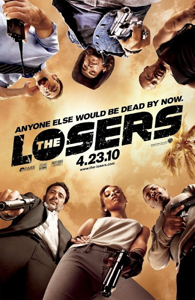 Poster of The Losers 2010 Hindi 720p BRRip Dual Audio Full Movie Download