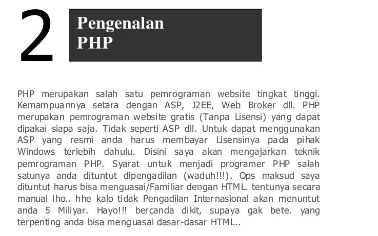 Download Pdf PHP Siapa Takut