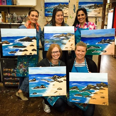 Sip and Paint for HBO Big Little Lies digital release