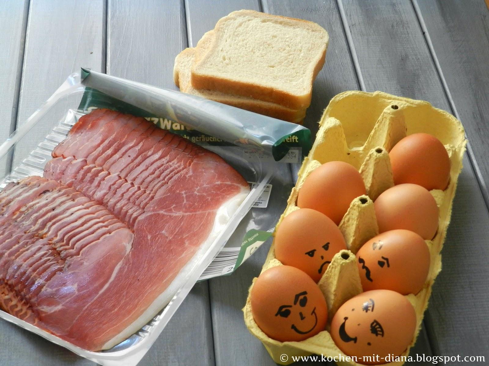 Zutaten Frühstückmuffins mit Speck und Ei