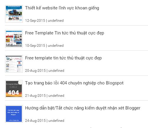 Widget bài viết mới nhất theo nhãn có hình ảnh cho Blogspot