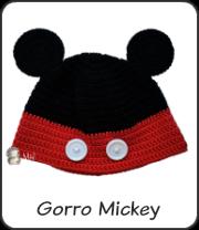 Gorro Mickey a crochet