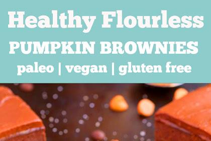 Healthy Flourless Pumpkin Brownies