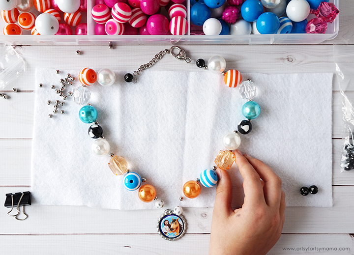 Spirit Riding Free DIY Bottle Cap Necklace Tutorial