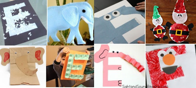 Letter E Crafts For Kindergarten Craft Home Home Crafts Ideas