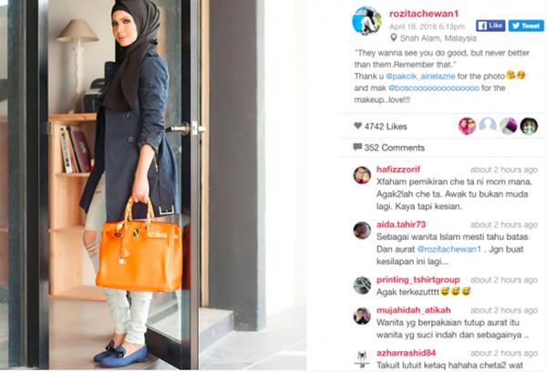 Gara-Gara Fesyen Dikritik Hebat, Ini Komen 'Pedas' Che Ta Bidas Komen Biadap Peminat!