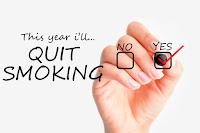 Tetapkan azam tahun baru, azam dan matlamat, azam berhenti merokok