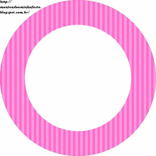 Pink Stripes Toppers or Free Printable Candy Bar Labels.