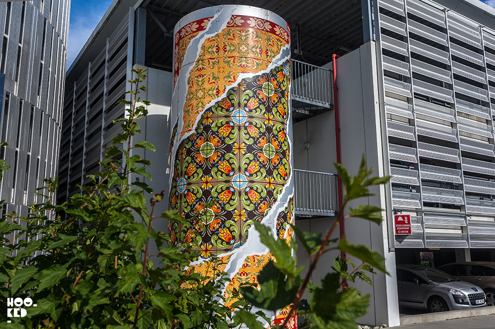 Add Fuel 's street art mural, Stavanger Airport, Nuart 2017. Photo ©Mark Rigney / Hookedblog