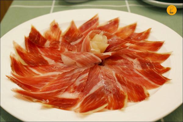 Ración de jamón ibérico en Restaurante Moncholi Madrid Ibiza
