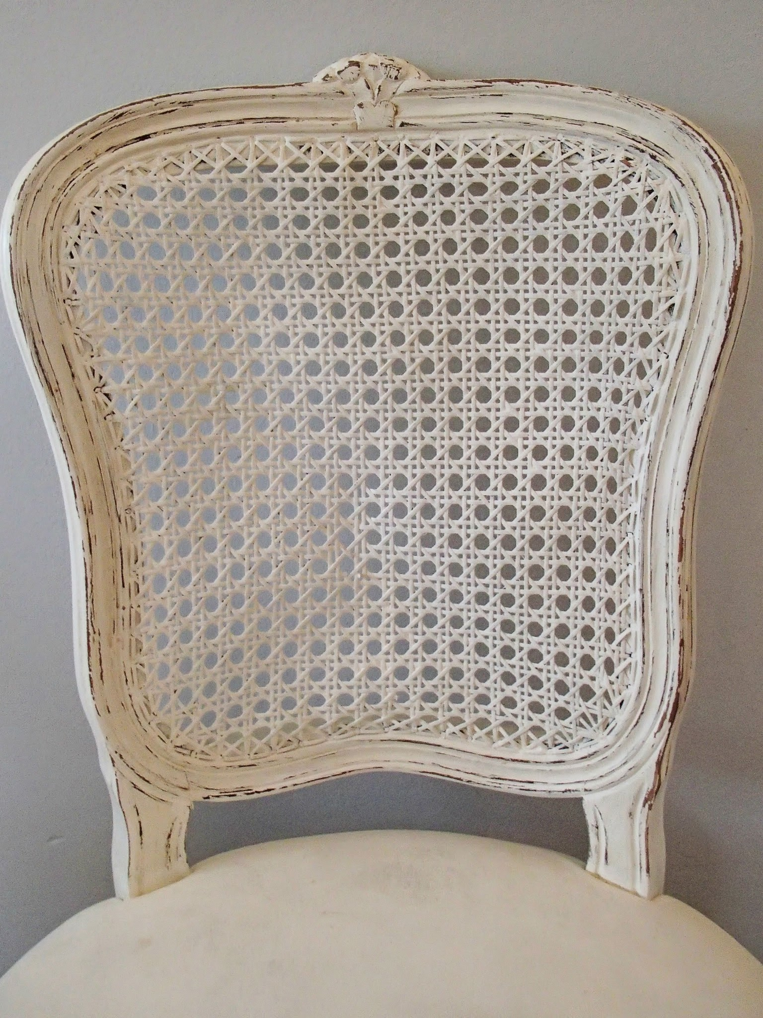 D D S Cottage And Design Creamy White French Cane Chair